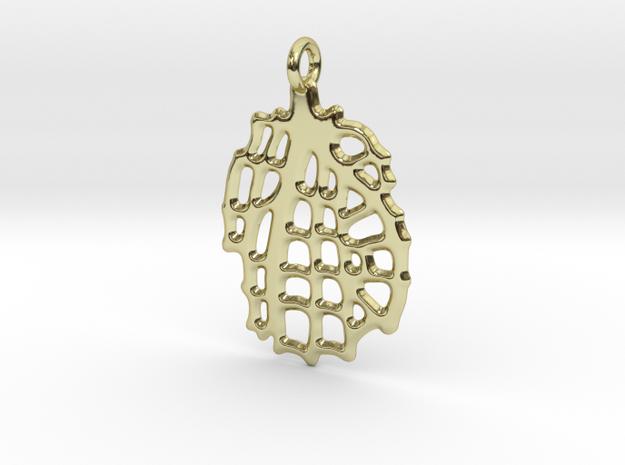 Sea Fan Pendant in 18k Gold Plated Brass