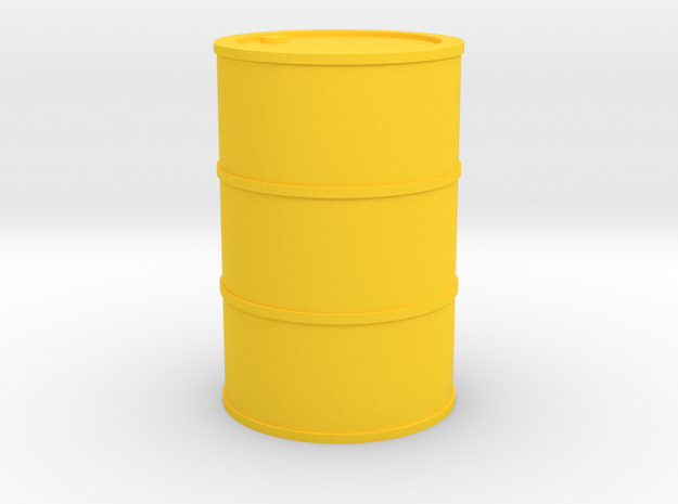 Oil Barrel 1/45 in Yellow Processed Versatile Plastic