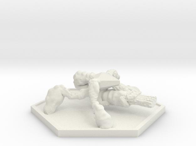 SWARM Gunner (Hex) in White Natural Versatile Plastic