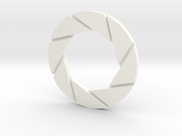Aperture Logo 5in Thin in White Strong & Flexible Polished