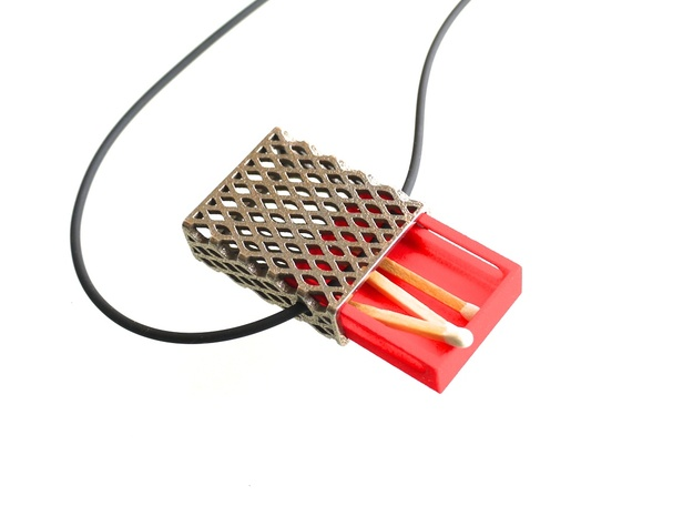 Matchbox Pendant - exterior metal only