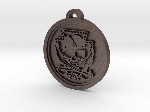 Custom Pendant 2 in Polished Bronzed Silver Steel