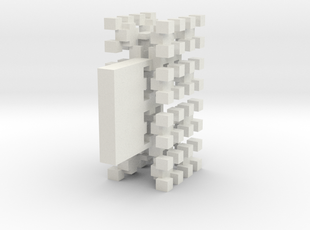 Pixel Tree Wide in White Natural Versatile Plastic