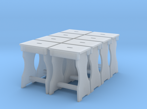 Shop Stool Set Of 8 in Smooth Fine Detail Plastic: 1:48