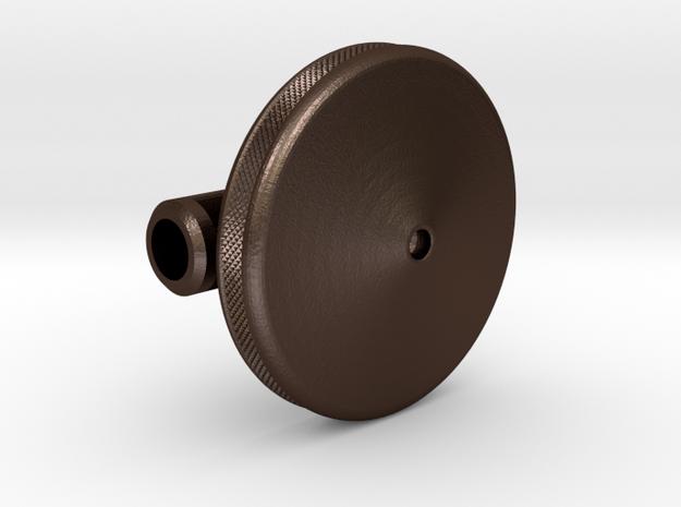 Heavy Spin Coin in Matte Bronze Steel