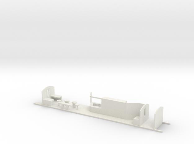 Aménagement Eurostar Bar HO in White Natural Versatile Plastic