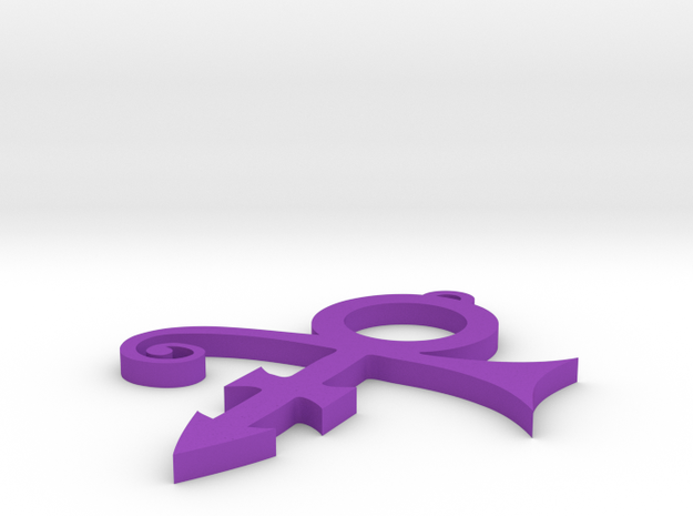 Prince Symbol Pendant Top Loop in Purple Processed Versatile Plastic