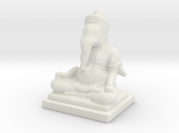 Guimet-ganesha-decimated-1 in White Natural Versatile Plastic