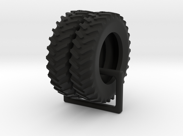Tractor 5c Hollowed 1/64 scale / 18.4-R42 tires in Black Natural Versatile Plastic