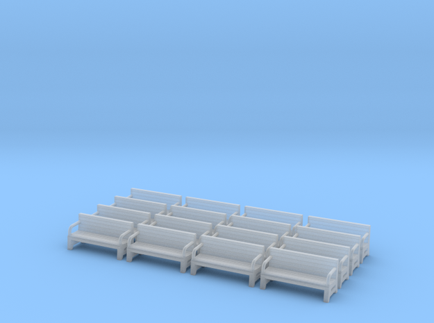 Bench type A - N ( 1:160 scale )16 Pcs set  in Smooth Fine Detail Plastic