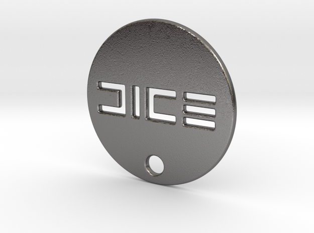 Battlefield 1 DICE WW1 Dog Tag in Polished Nickel Steel
