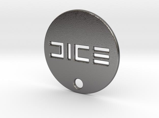 Battlefield 1 DICE WW1 Dog Tag in Polished Nickel Steel
