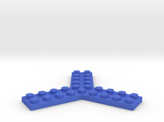 Trilego-flat-2x5 in Blue Processed Versatile Plastic