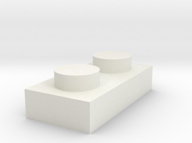 2x1 in White Natural Versatile Plastic