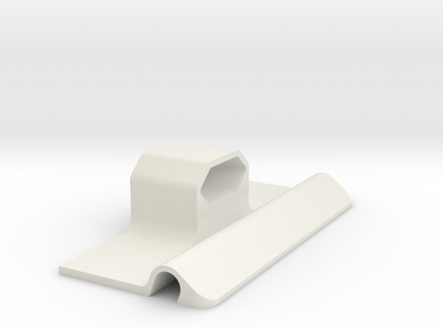 Wall-Outlet-Shelf-1 in White Natural Versatile Plastic