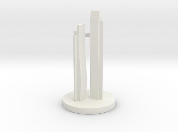 Chess Knight_Abu Dhabi in White Natural Versatile Plastic