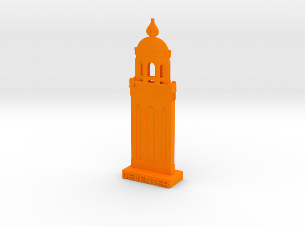Lebuinustorentje Deventer 3DWP in Orange Processed Versatile Plastic