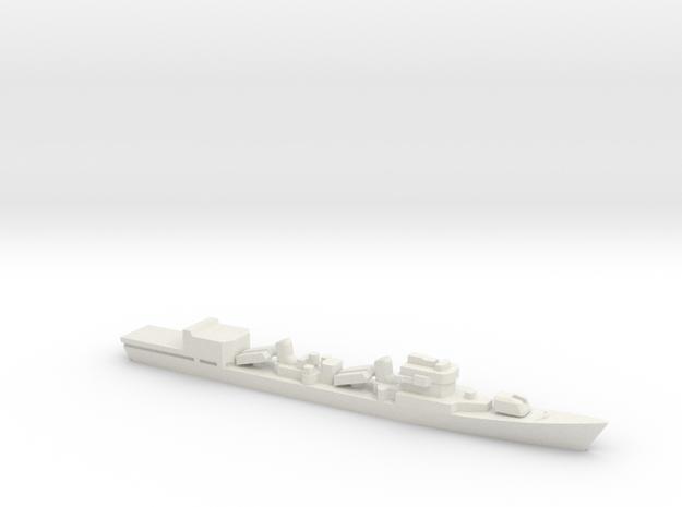 Type 051D Destroyer w/ Helo Hanger, 1/1800 in White Strong & Flexible