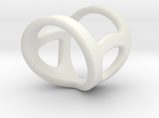 Infinity, Size 9 To 7 Length 1inch in White Natural Versatile Plastic
