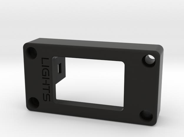 Custom Fiero Light Switch Mount in Black Strong & Flexible