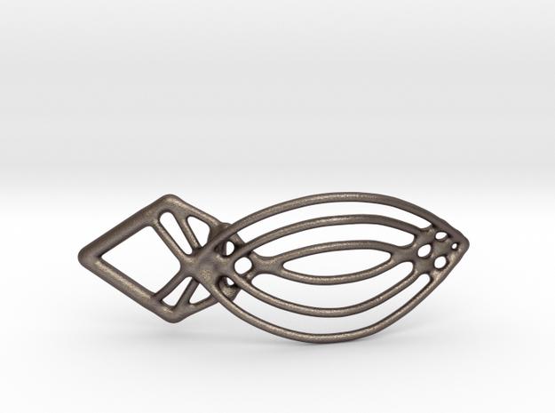 Tearclip in Polished Bronzed Silver Steel