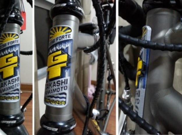 Bicycle badge (straight tube): GT Forte