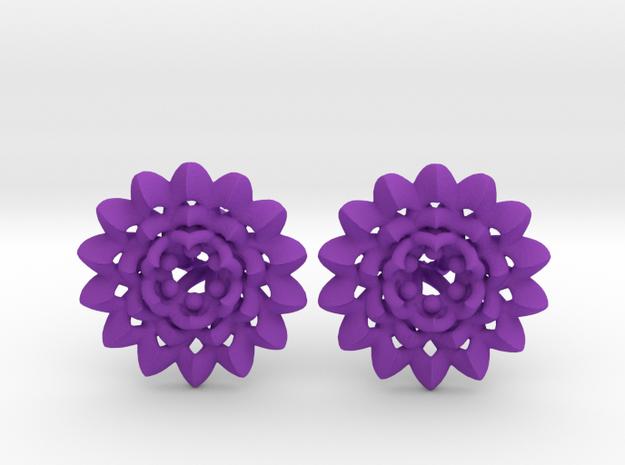 Plugs The Chrysanthemum / gauge / size 6G (3,2mm) in Purple Processed Versatile Plastic