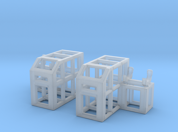 Depth Charge Thrower Rack 1/144 Scale in Smooth Fine Detail Plastic