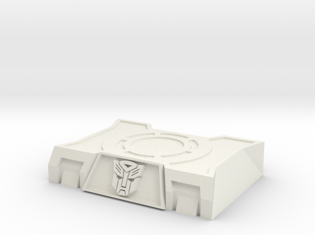 Autobot Base Stand in White Natural Versatile Plastic