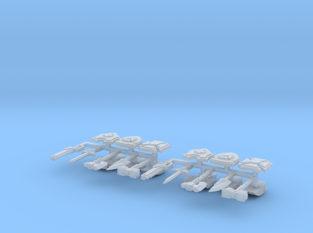 """15mm """"Gothic Sci-Fi"""" Assault Weapons 3d printed"""