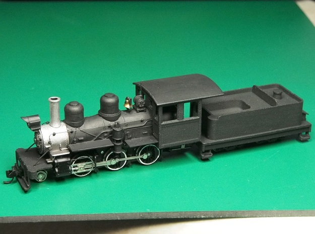 Parts for 2-6-0 conversion (cab,pilot,tender) A 3d printed The finished model.This was the prototype,some details may be different.