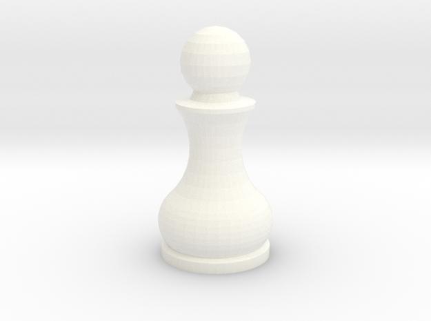 Pomo Pawn in White Processed Versatile Plastic