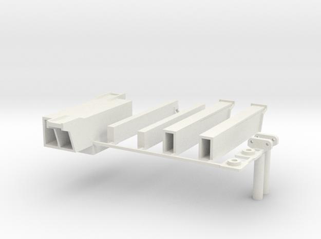P 100-14 Ladekran 100mt Hauptstuetzen 1:50  in White Natural Versatile Plastic