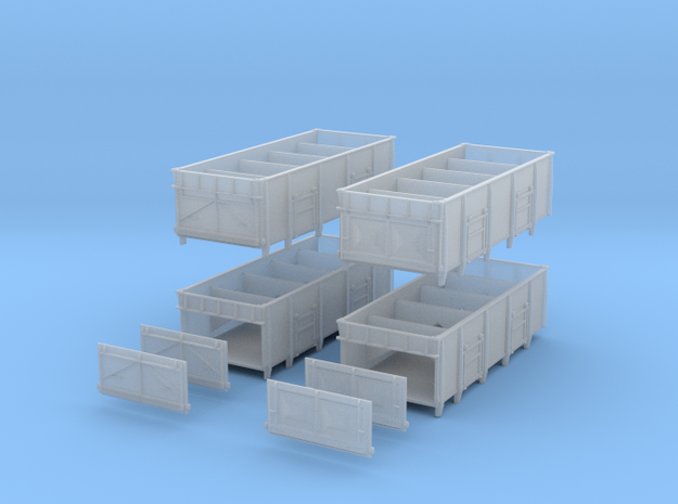 BRdiagram 1/110 Set of 4 with spare end doors in Smoothest Fine Detail Plastic