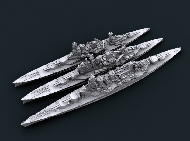 1/3000 WW2 Royal Navy Battlecruisers in Frosted Ultra Detail