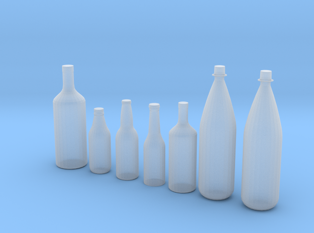 1/24 1/25 Beer bottles for display or diorama