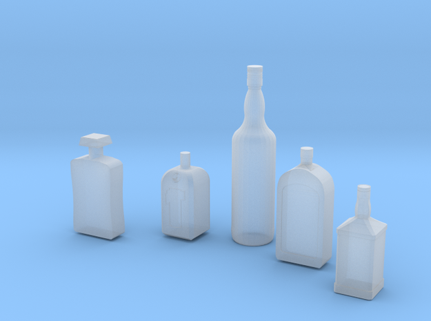1/24 1/25 Liquor bottles for diorama in Frosted Ultra Detail