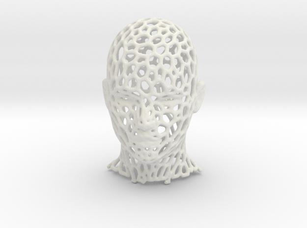 Mesh Head in White Natural Versatile Plastic