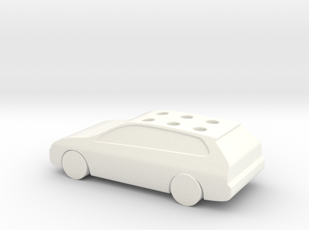 Game Of Life Car Wedding Cake Topper (scaled 85%) in White Processed Versatile Plastic