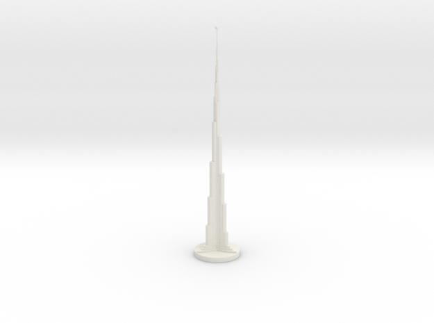 Chess King_Dubai in White Natural Versatile Plastic