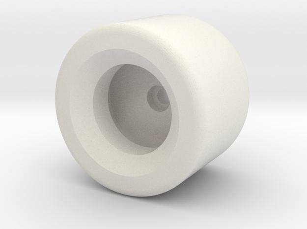 CW Dragstrip Front Spoiler pt2 - Wheel in White Natural Versatile Plastic