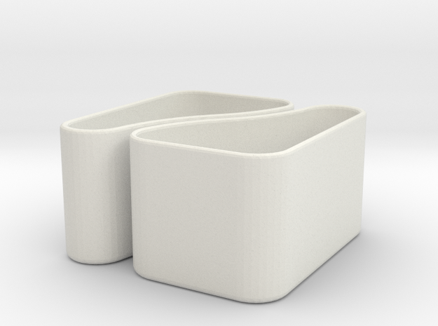 Købke 2-in-1 Planter/Container in White Natural Versatile Plastic
