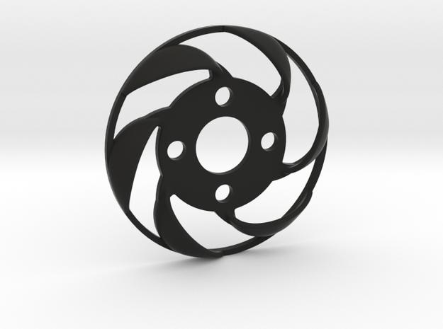 Yokomo YD2 spurgear plate fan - reversed direction in Black Natural Versatile Plastic