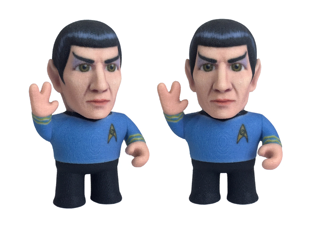 Spock Star Trek Caricature in Full Color Sandstone