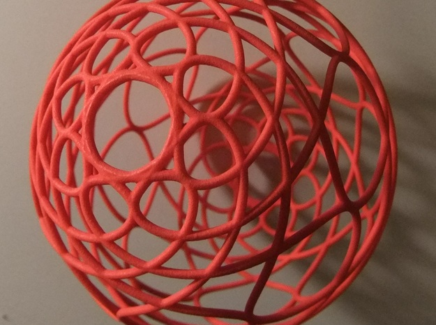 Christmas Tree Ornament- 3D Curve in Red Strong & Flexible Polished