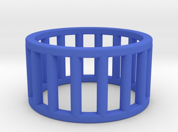 Albaro Ring Size-5 in Blue Processed Versatile Plastic