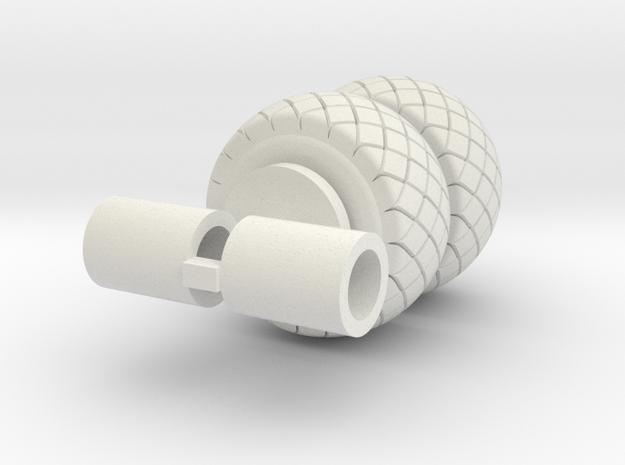 Diamond Tread 21.5-16 in White Natural Versatile Plastic