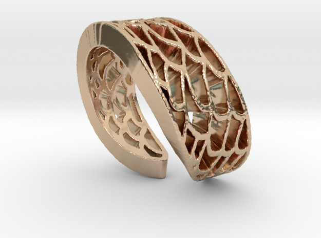 Mermaid Ring in 14k Rose Gold Plated Brass