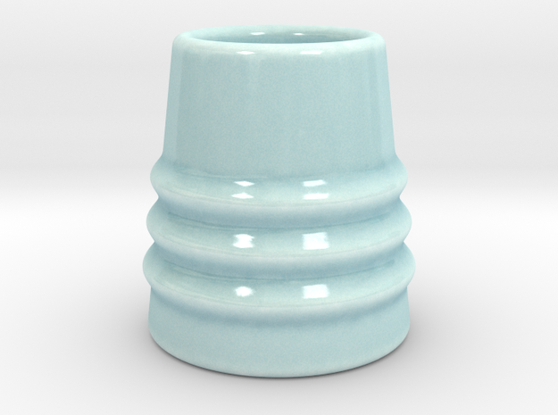 DRAW shot glass - the grabber in Gloss Celadon Green Porcelain