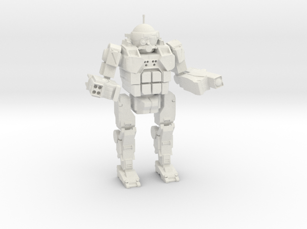Commando in White Natural Versatile Plastic